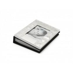 Album foto pentru copii 9x13 cm ABC placat cu argint-8108261