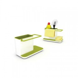 Organizator chiuveta set 3 piese alb/verde-J10448