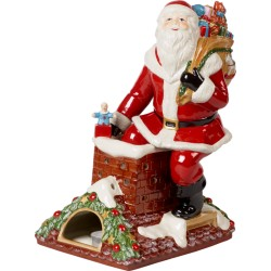 Suport lumanare Christmas Toys Memory Santa on rooftop-357693