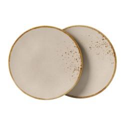 Set 2 farfuri desert VIVO 21.5 cm,maro-350793