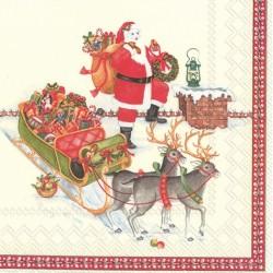Servetele Santa on the roof L830400