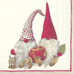 Servetel Friendly Tomte red C743010