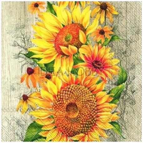 Servetele 4.5 x 8 cm Le Tournesol, floarea soarelui - BF827039