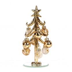 Decoratiune brad auriu cu globuri-P33130