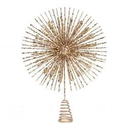 Varf auriu pentru brad, 38 cm- A54161