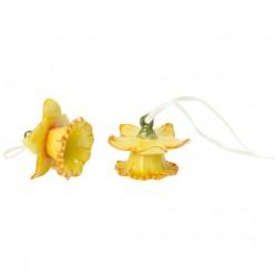 Decoratiune Paste-Set 2 floricele mini flower bells daffodil yellow-307315