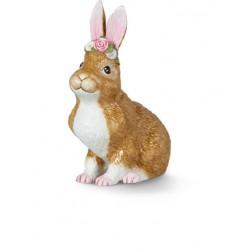 Iepurasul asezat cu coroana de flori Easter Bunny-386723