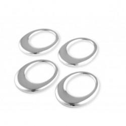 Set 4 inele argintate pentru servet - 030660