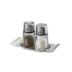 Set recipiente sare si piper cu tavita 336307 Gefu