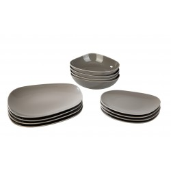 Set 12 farfurii Organiz Taupe Like by Villeroy and Boch 400368