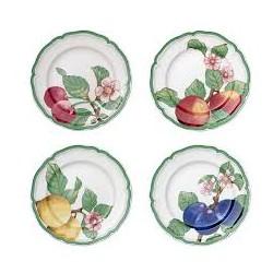 Set 4 farfurii pentru aperitiv, French Garden Modern Fruits- 364660