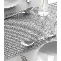 Placemat - napron woven lattice silver