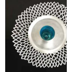 Placemat - napron pressed vinyl dahlia silver