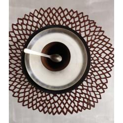 Placemat - napron pressed vinyl dahlia bronze