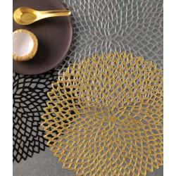 Placemat - napron pressed vinyl dahlia gold