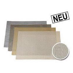 Placemat vinyl 33x46 cm sand metal