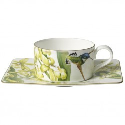 Ceasca ceai tea cup and saucer amazonia , cod 194465/194472