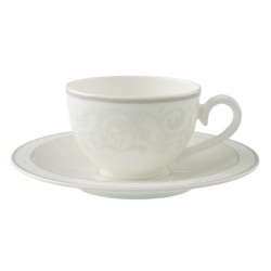 Ceasca cafea ceai cup and saucer gray pearl
