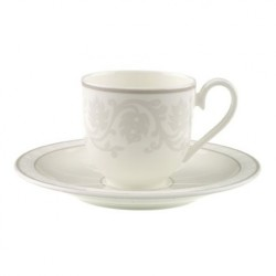 Ceasca espresso cup and saucer gray pearl