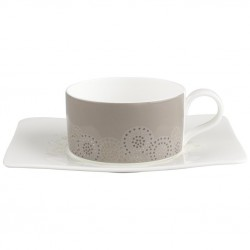 Ceasca ceai cup and saucer modern grace grey