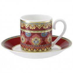 Ceasca espresso cup and saucer samarkand rubin