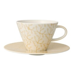 Ceasca cappuccino white coffee cup and saucer caffe club floral vanille