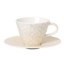 Ceasca cafea cup and saucer caffe club floral vanille