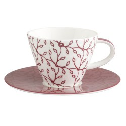 Ceasca cafea cup and saucer caffe club floral berry