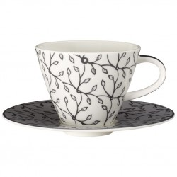 Ceasca cafea cup and saucer caffe club floral steam