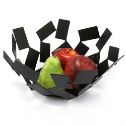 Fructiera inox vopsit negru fruit holder