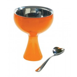 Set cupa si lingura servire inghetata big love orange