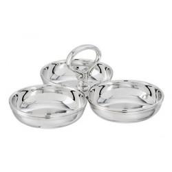 Recipient placat cu argint servire aperitive relish Contour