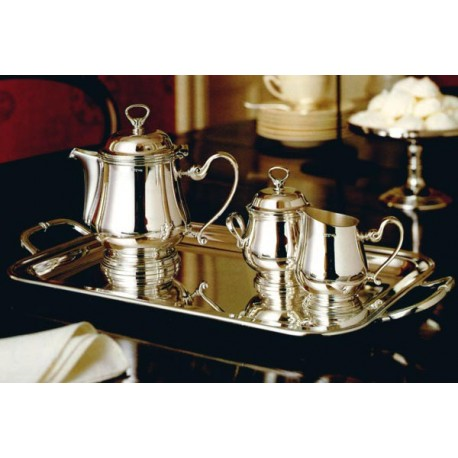 Ceainic placat cu argint contour
