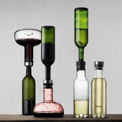 Set decantor vin rosu si decantor vin alb