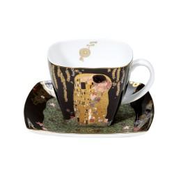 Ceasca cafea cu farfurie The Kiss Gustav Klimt Goebel-243851