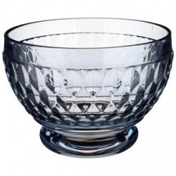 Bol sticla cristalizata pentru aperitive boston coloured blue