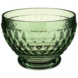 Bol sticla cristalizata pentru aperitive boston coloured green