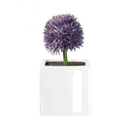 Floare violet allium cu suport din portelan