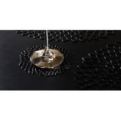 Set 6 suporturi pahare Dahlia negru