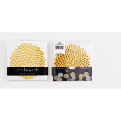 Set 6 suporturi pahare Dahlia auriu