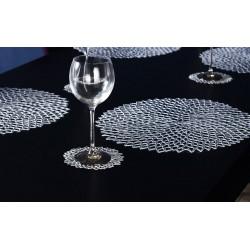 Set 6 suporturi pahare Dahlia argintiu