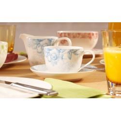 Ceasca de cafea cu farfurie Floreana blue, cod 259775/259782