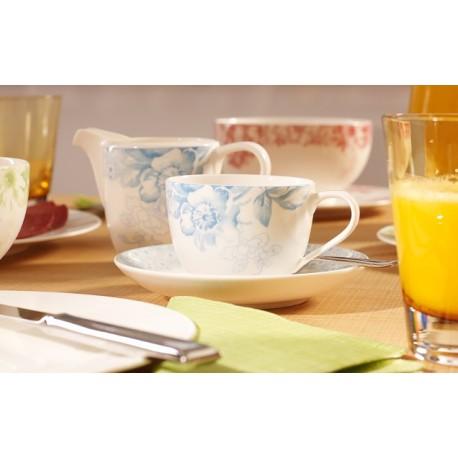 Ceasca de cafea cu farfurie Floreana blue