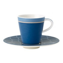 Ceasca espresso cu farfurie Caffe club uni cornflower, cod 207448 /207455