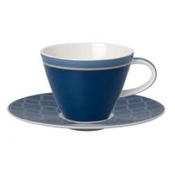 Ceasca cafea cu farfurie Caffe club uni cornflower