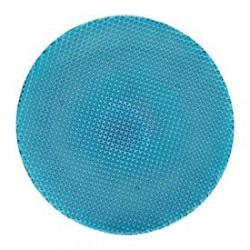 Platou cristal 32 cm turqoise colour concept