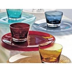 Platou cristal 32 cm midnight blue colour concept