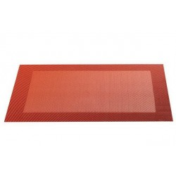 Placemat vinyl 33*46 cm orange/terracotta