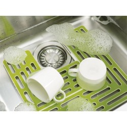 Protectie vase pentru chiuveta verde
