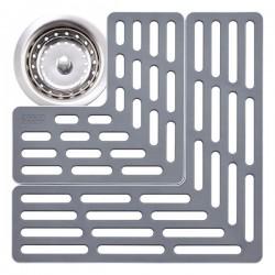 Protectie vase pentru chiuveta gri